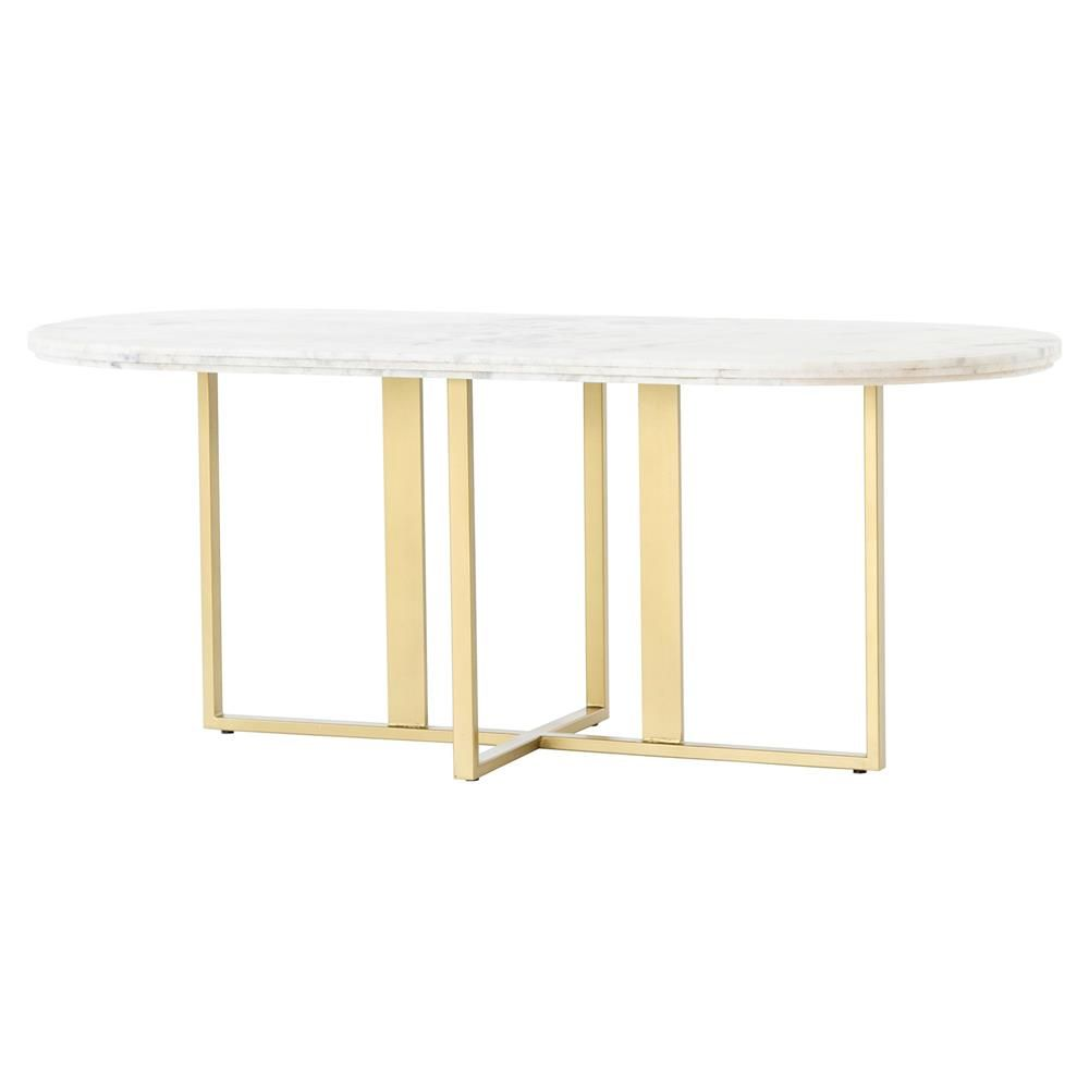 Kate Modern Majestic Gold Legs With Beautiful White Oval Marble