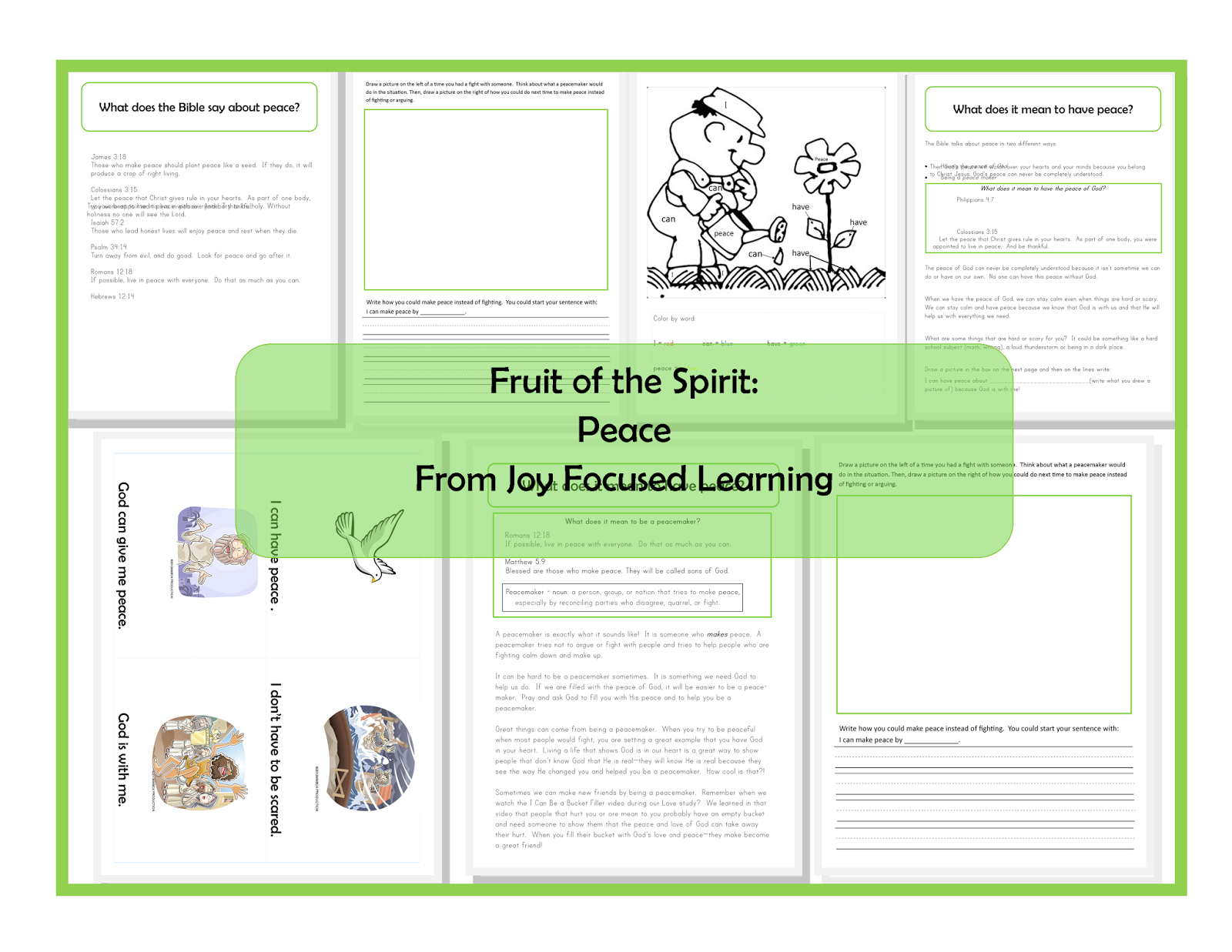 Fruit of the Spirit: Peace | Joy Focused Learning | VBS 2015 ...