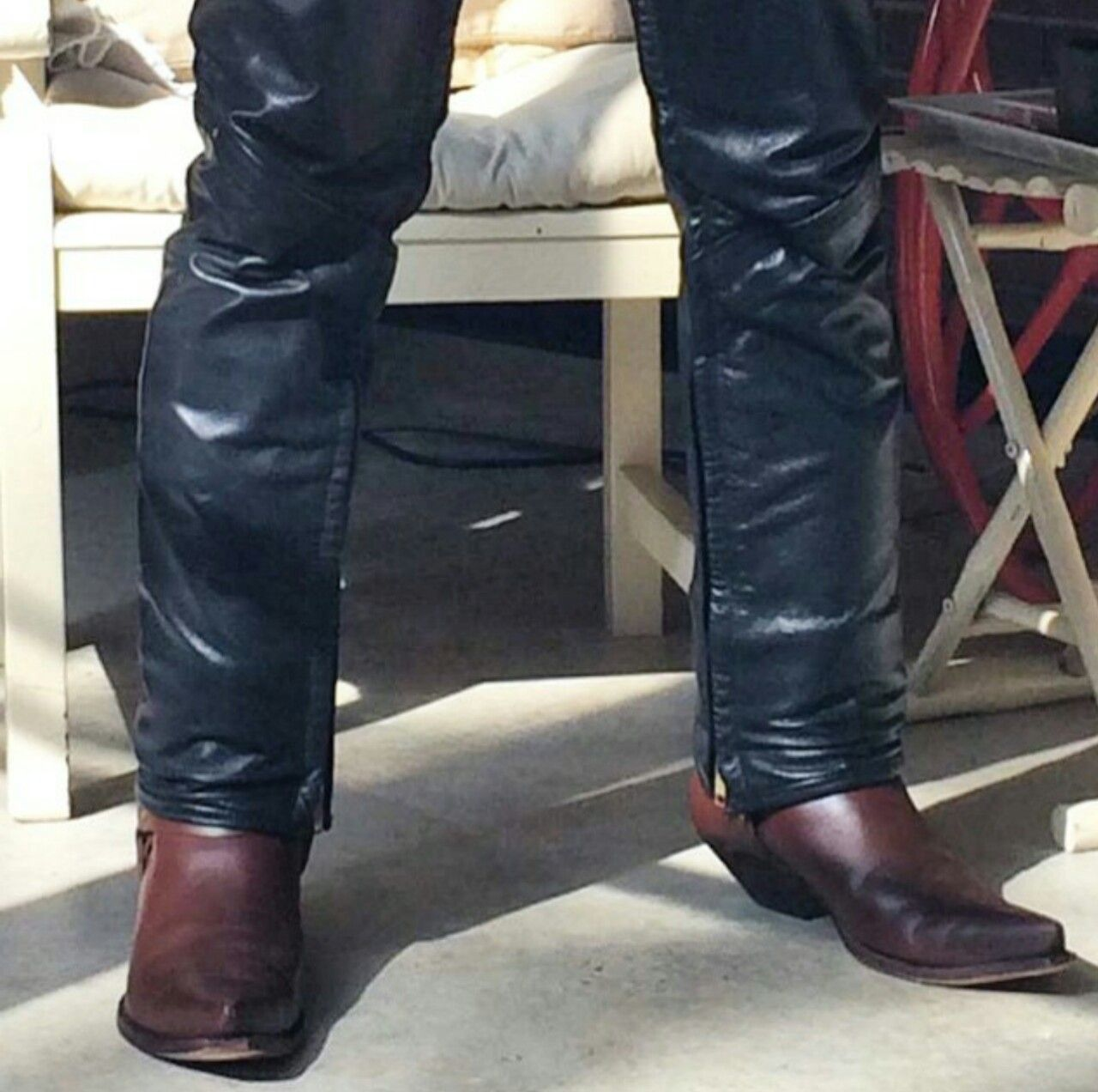 Mens cowboy boots, Mens leather pants