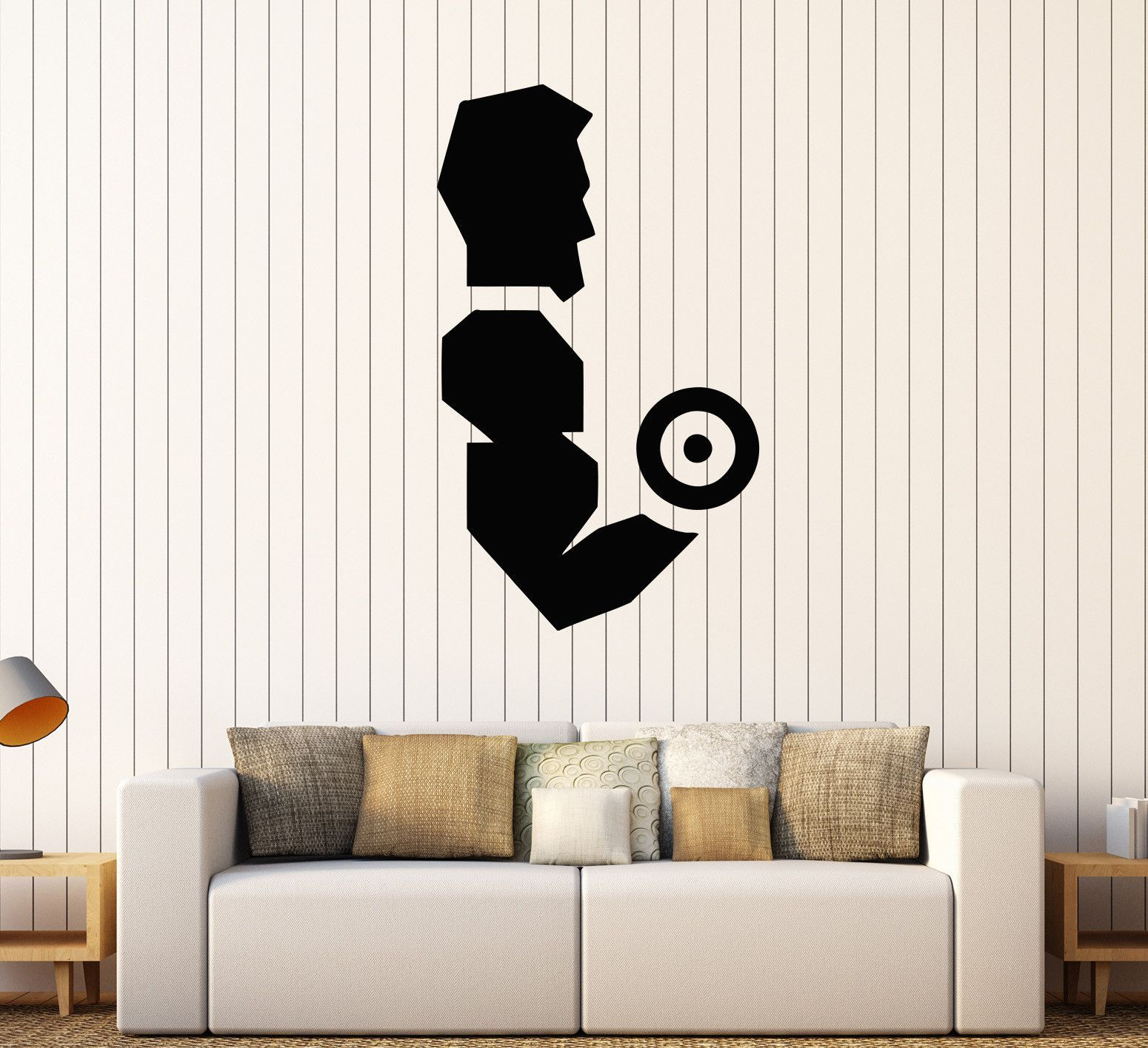 Vinyl Wall Decal Gym Bodybuilding Fitness Center Dumbbell Stickers - How to put up a vinyl wall sticker