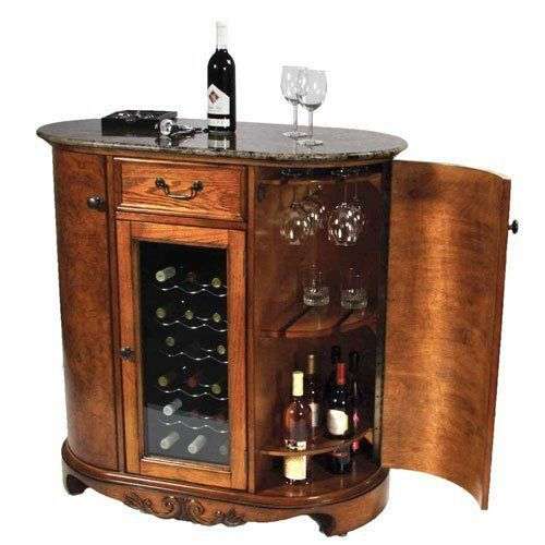 Wine Cooler Wine Bar Cabinet Granite Top by Keller International ...