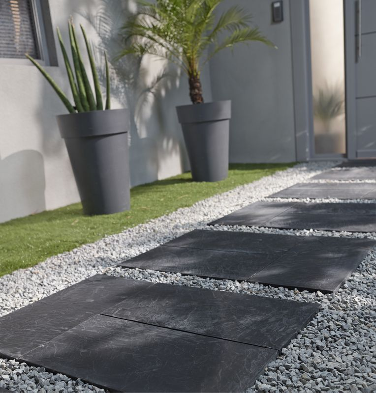 Pas Japonais Blooma Traverse Graphite Jardin Patio Pavage De Jardin Amenagement Jardin