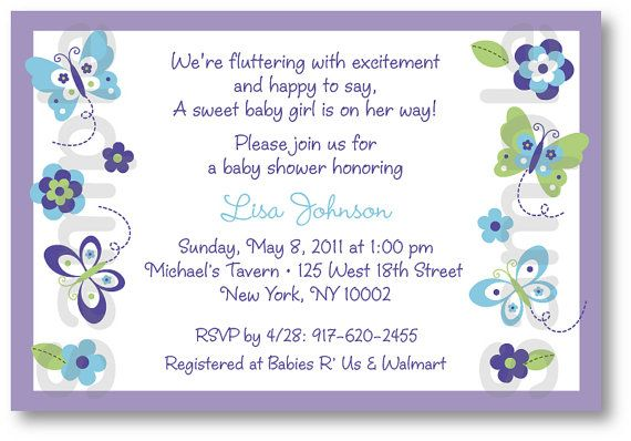 Free printable butterfly baby shower invitation party pinterest free printable butterfly baby shower invitation filmwisefo Image collections