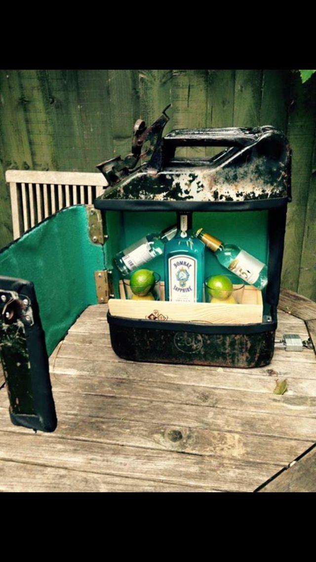 Jerry tin bar #upcycle #gin #handmade