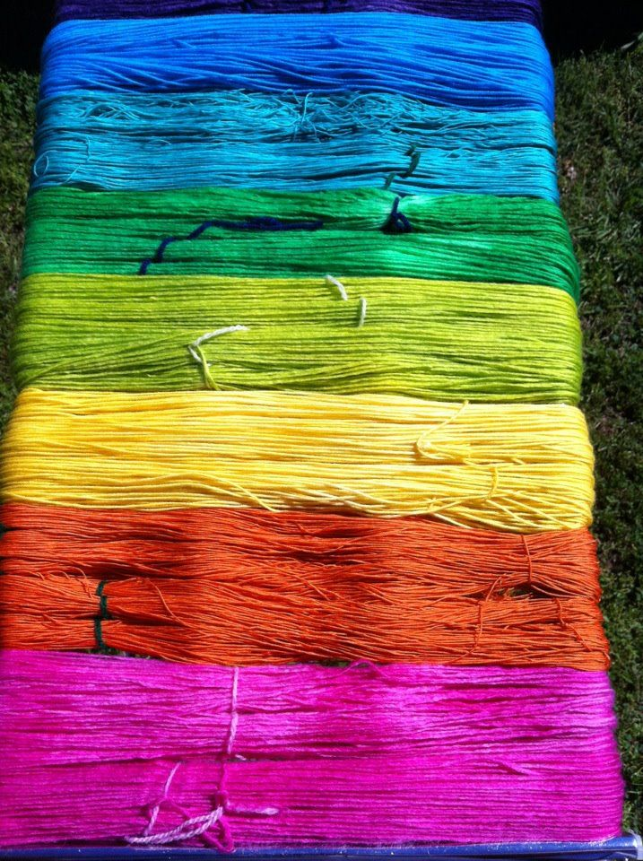 Sending a yarn rainbow in spring colors from White Bear Fibers to you!
