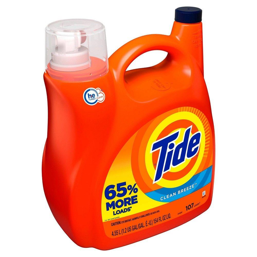 Tide Liquid Laundry Detergent Clean Breeze 154 Fl Oz In 2020