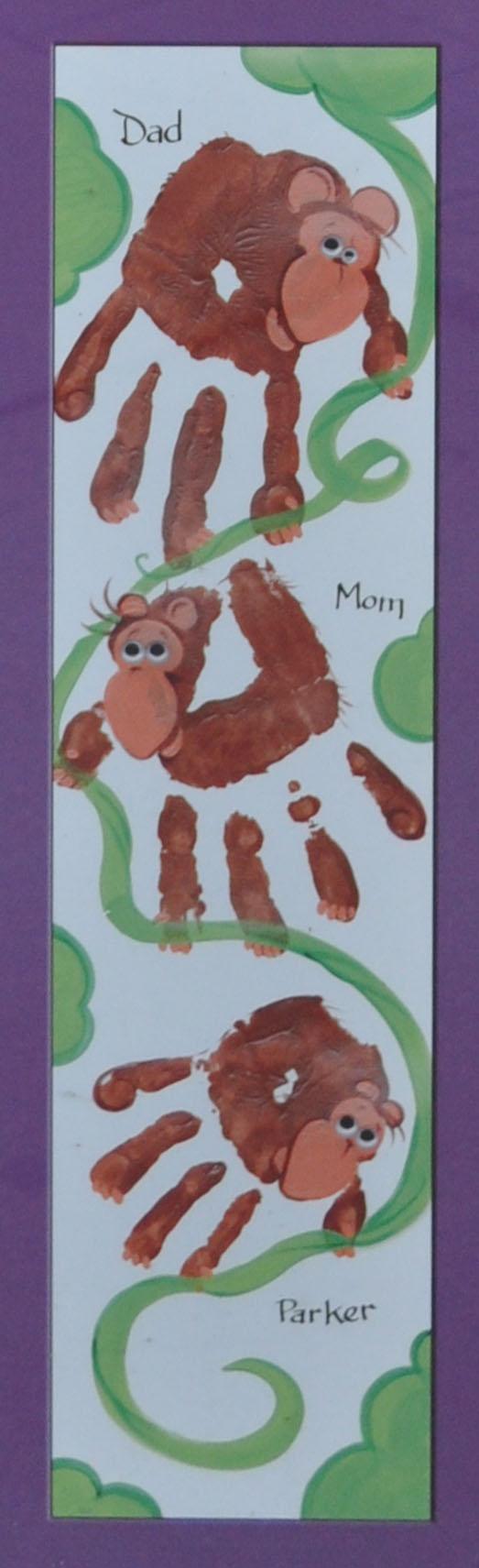 Monkey handprints | Handprint Crafts | Pinterest | Monkey, Craft and ...