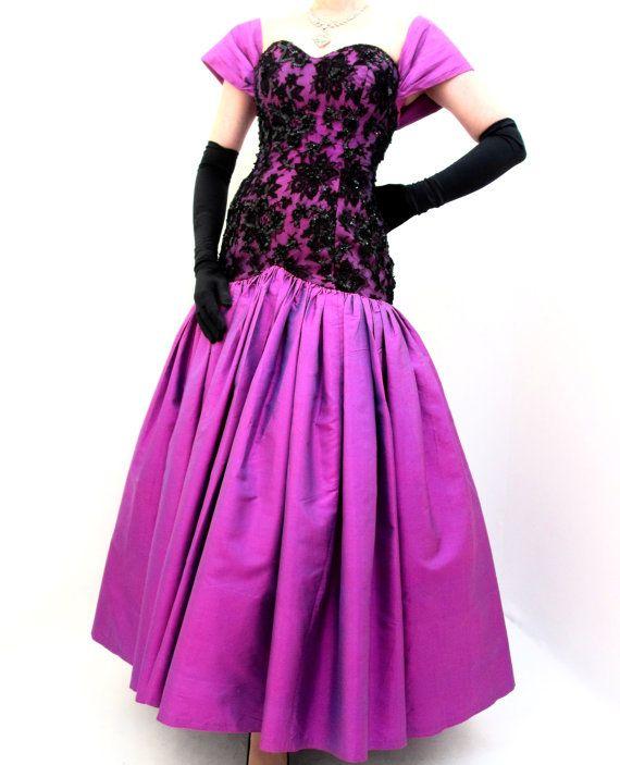 Asombroso Etsy Vestido De Baile De Los Años 80 Galería - Ideas para ...
