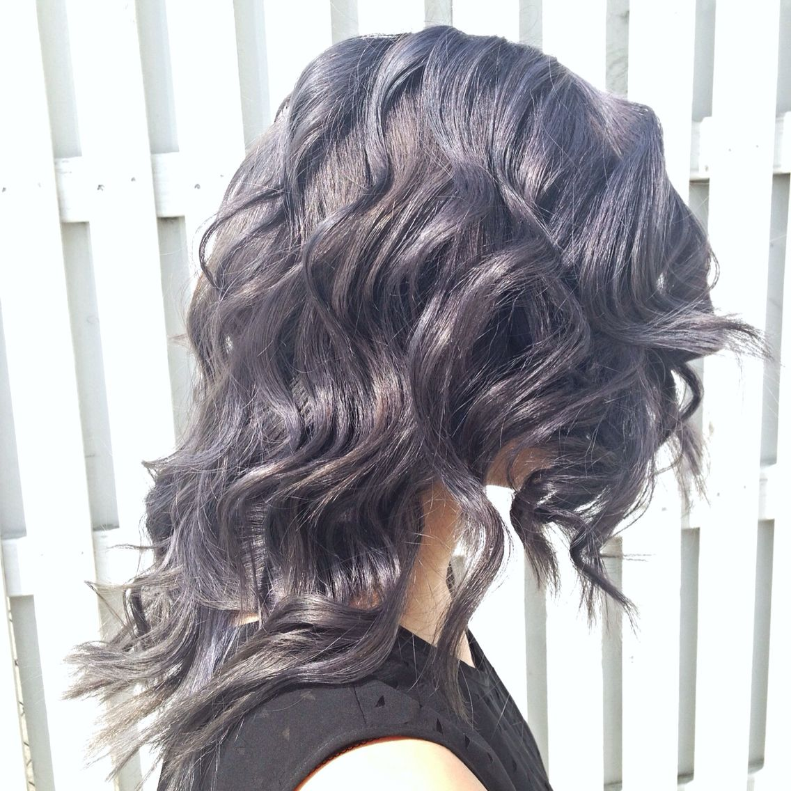 Slate grey with Kenra SM series and Shades EQ onyx   hair ...