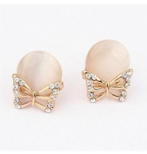 Peral butterfly earrings
