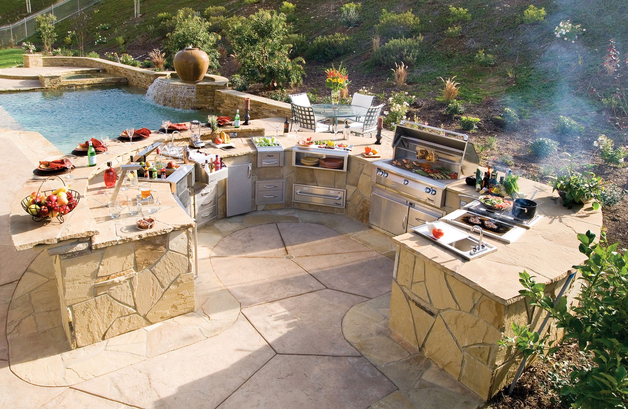 Your Patio Is An Extension Of Your Home So The Style Of Your Outdoor Kitchen Should Be Influence Outdoor Kitchen Design Outdoor Kitchen Modern Pergola Designs