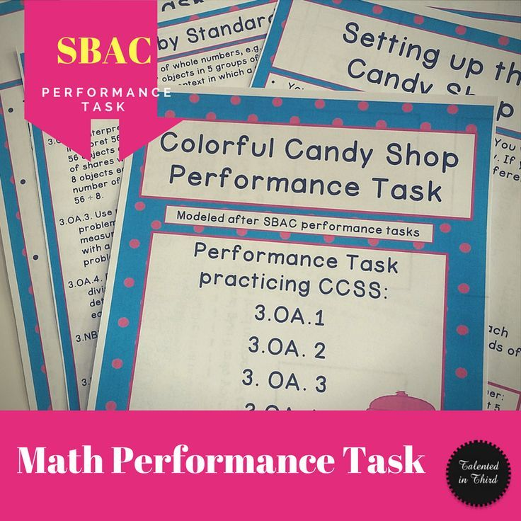 Performance Task Colorful Candy Shop MATH GALORE MORE