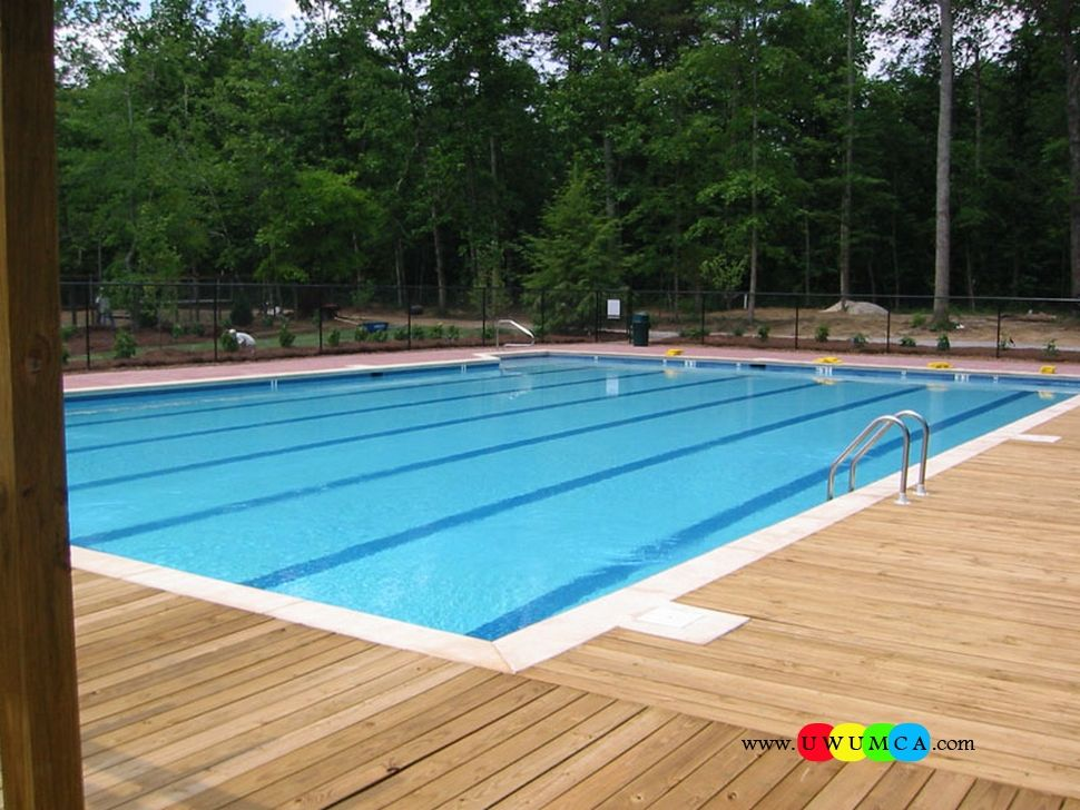 Swimming Pool Pool Decks Chic Wooden Deck Around Pool With 3 Step Stainless Steel Pool Ladder