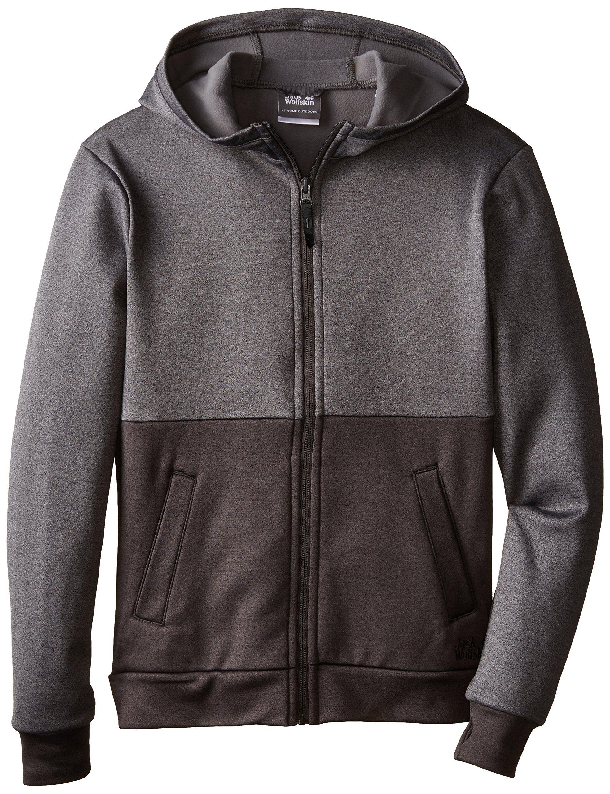 online retailer 8fce3 e1aed Jack Wolfskin Boy's Freedom Nanuk Jacket, Dark Grey Heather ...