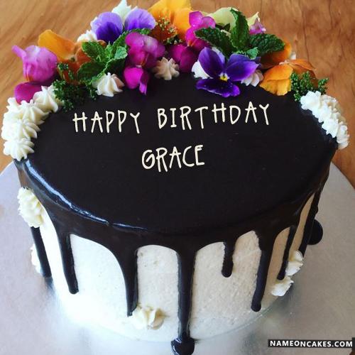 Grace Bithday Cake Happy Birthday Cakes For Boys Yummy Names
