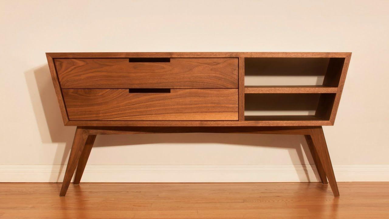 Credenzas Modernas De Madera : Designing and building a modern credenza woodworking design