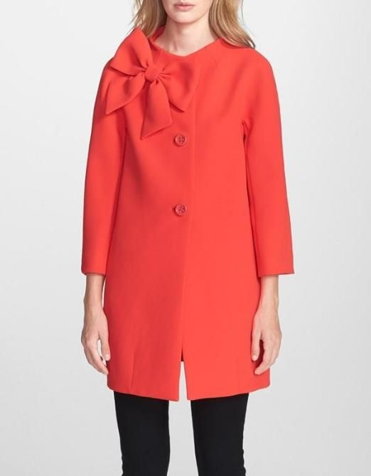 Love the bow on this Kate Spade coat.