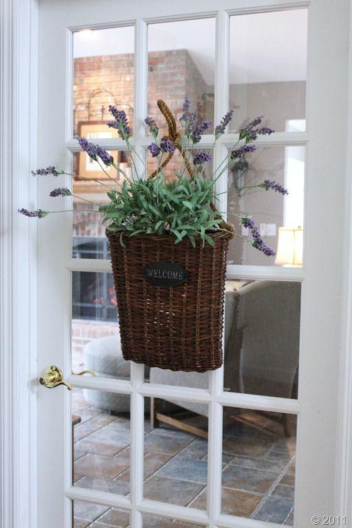 basket filled with lavender