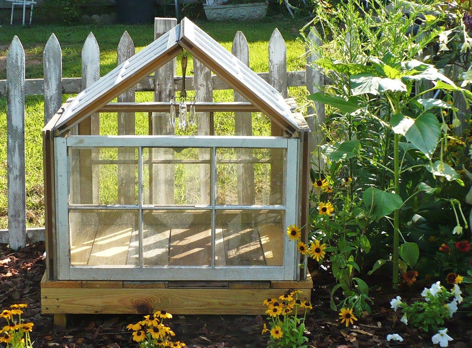 Upcycling Old Windows Into A Pretty Yard Structure   Yards, Mini ...
