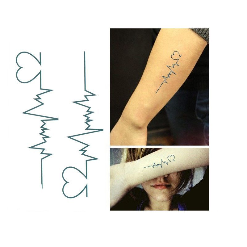 b2416bf61 New ECG temporary tattoo Men and women love tattoos sexy products waterproof  disposable tattoo stickers to cover the scar