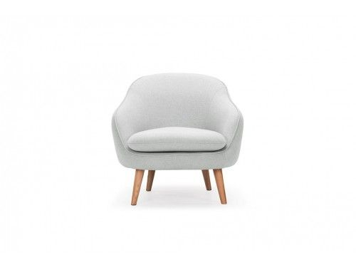 Hixon Shaped Back Accent Chair Light Gray Project 62 Mid