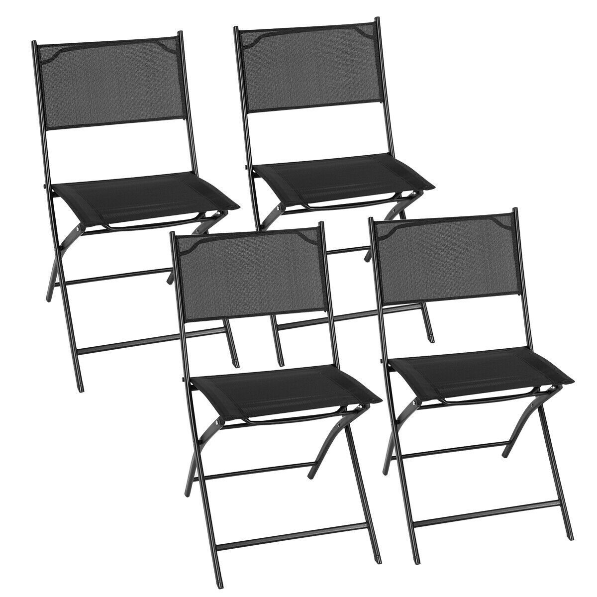 Costway Set of 4 Outdoor Patio Folding Chairs Camping Deck