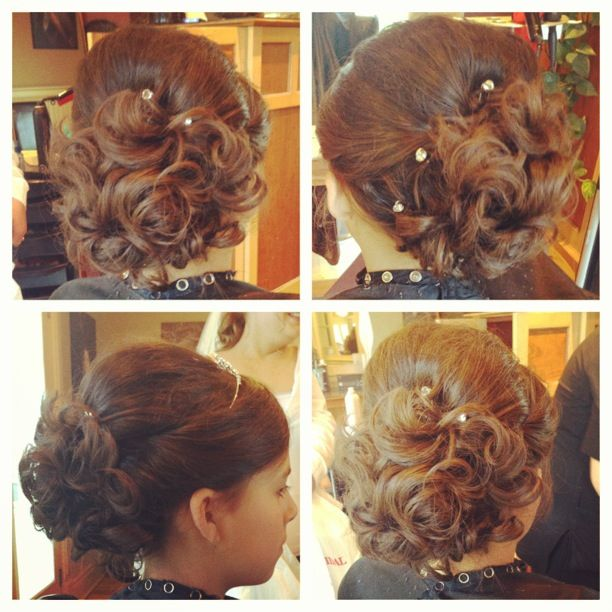Flower Girl Up-do Done By Shannon Keeley At The Spa Ottawa