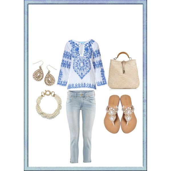 Blue and White, created by mitika1980 on Polyvore