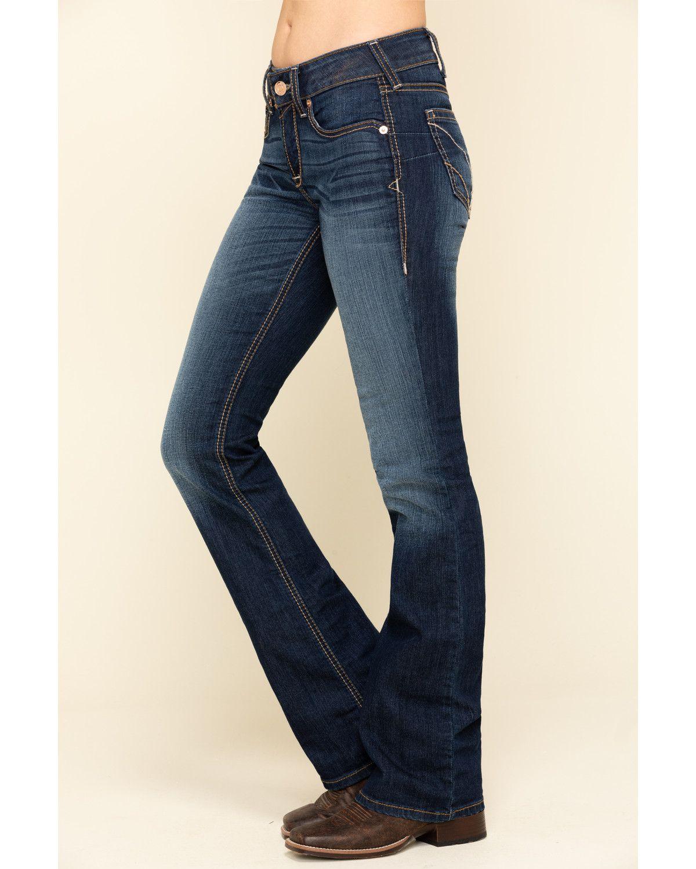 Ariat Women's R.E.A.L Sidney Bootcut Jeans, Blue