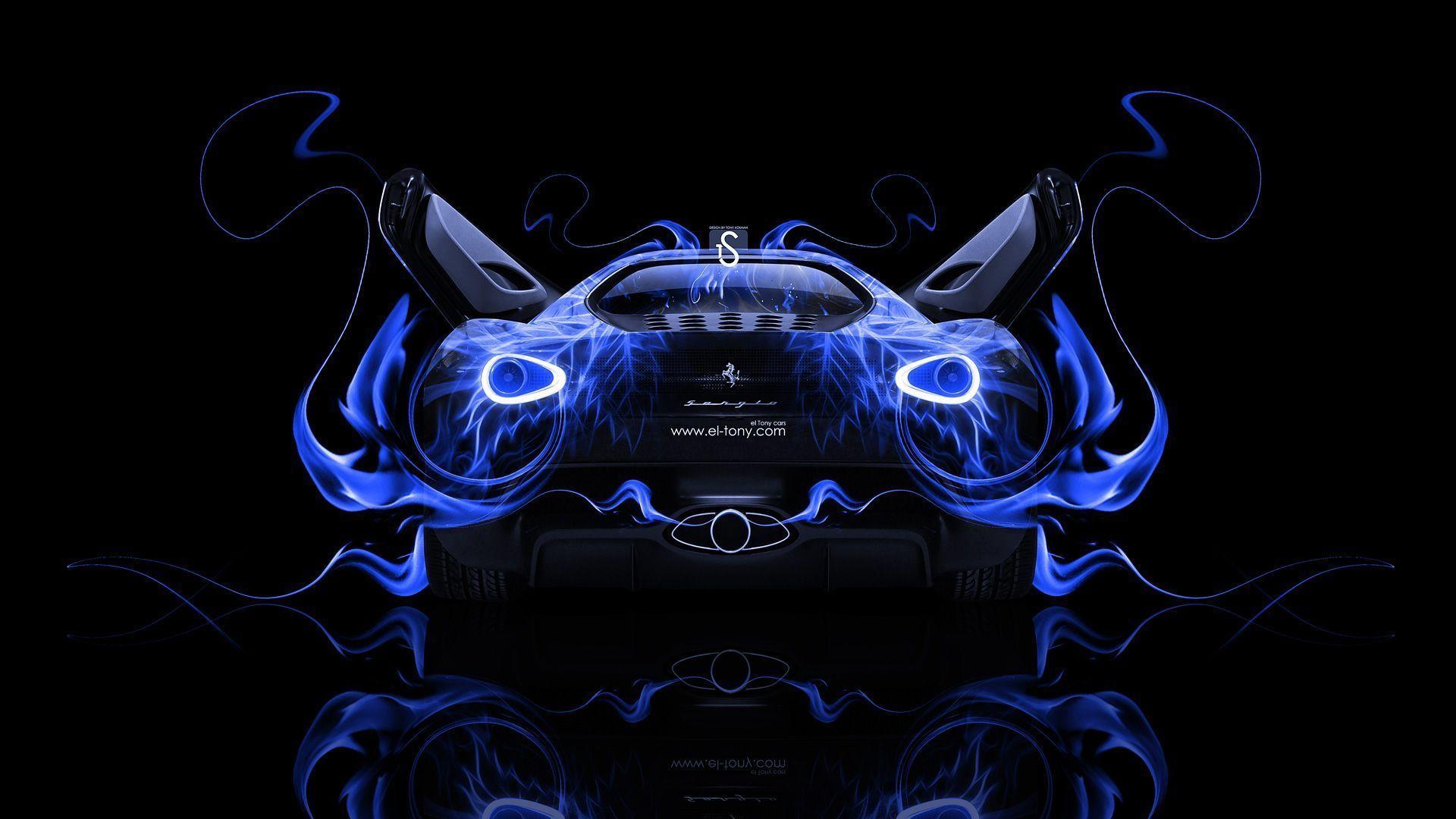 Merveilleux Ferrari Sergio Back Fire Abstract Car 2014 « El Tony