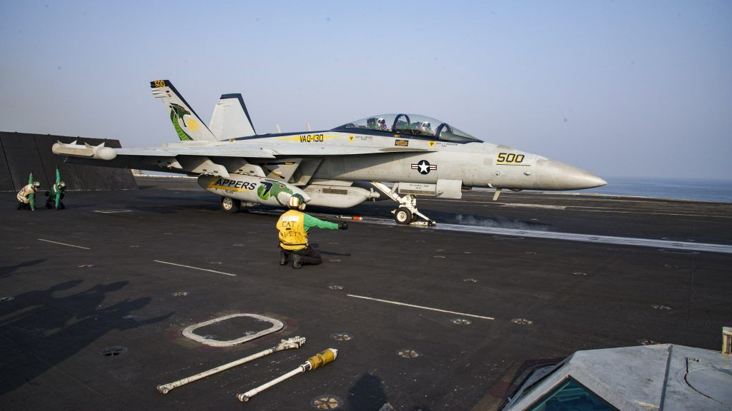 arabian gulf an e a 18g growler assigned to the zappers of the