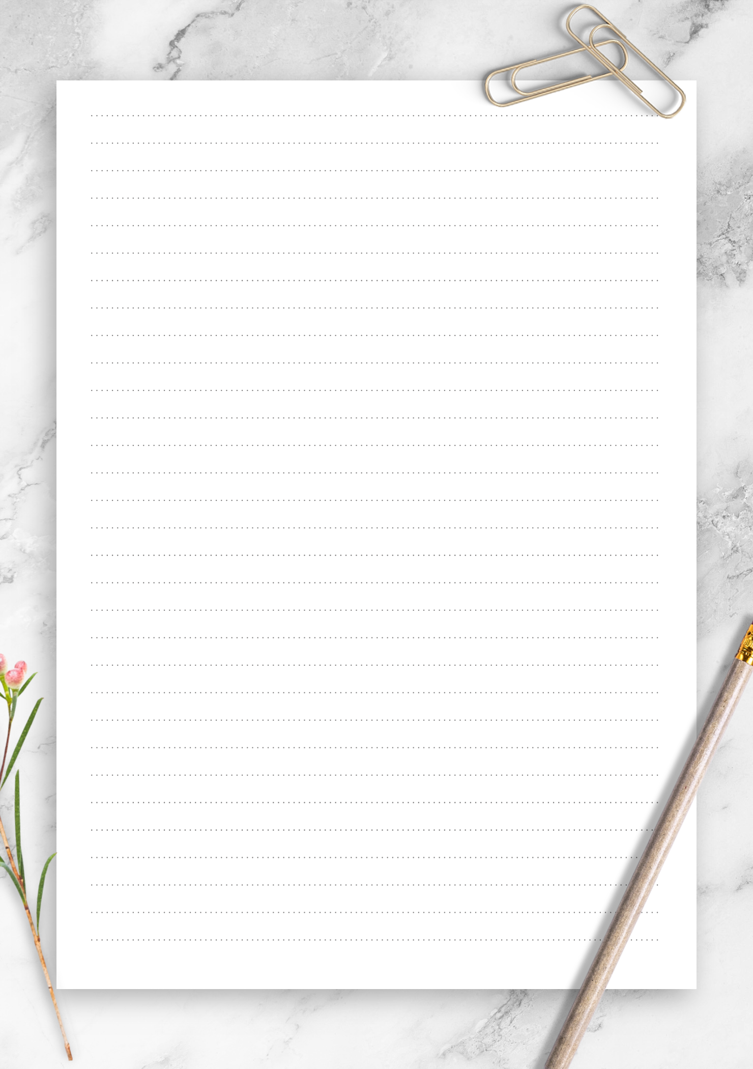 Printable Dotted Lined Paper Template With 6 35 Mm Line Height Choose Page Size And Download For Free Printable Lined Paper Lined Paper Free Paper Printables