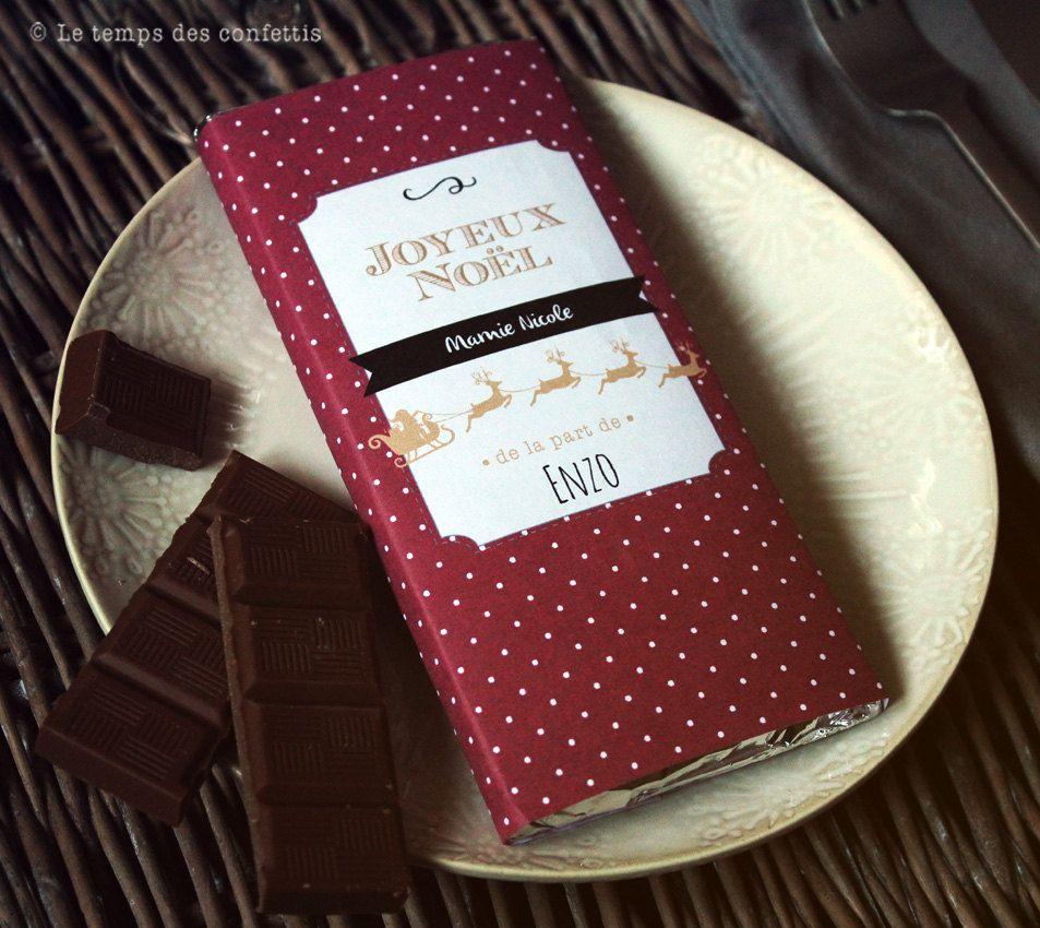 Tablette de chocolat personnalisée  offrir  vos proches moment