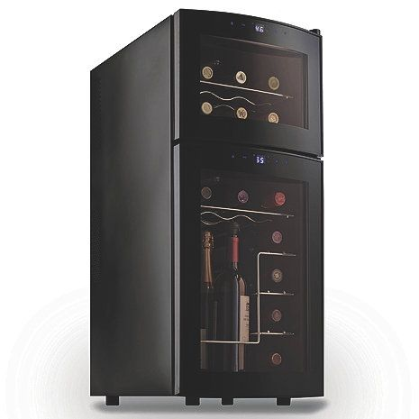 Wine Enthusiast Silent 21 Bottle Dual Zone Wine Refrigerator With Curved Doors At Wine Enthusiast 249 00 Wine Refrigerator Wine Fridge Best Wine Coolers