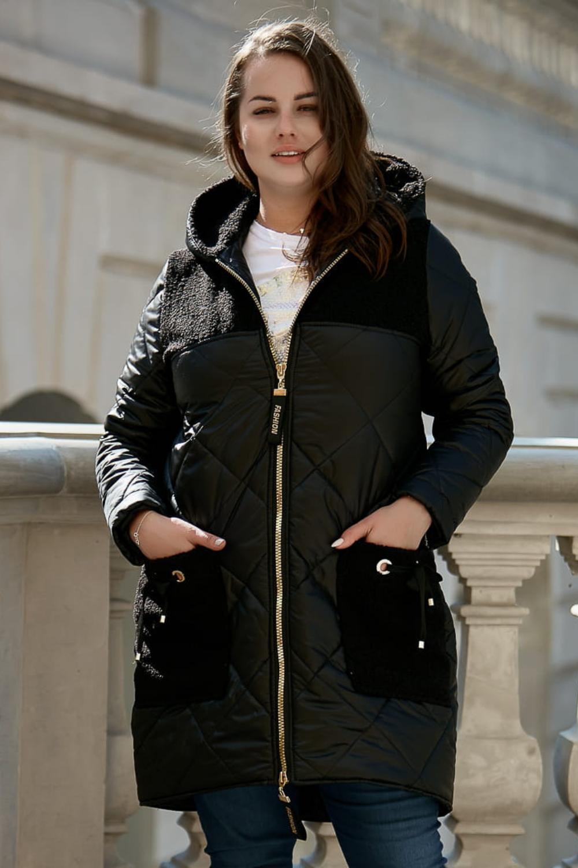 Czarna Pikowana Kurtka Roksi Xxl Oversize Jesien Zima Fashion Jackets Winter Jackets
