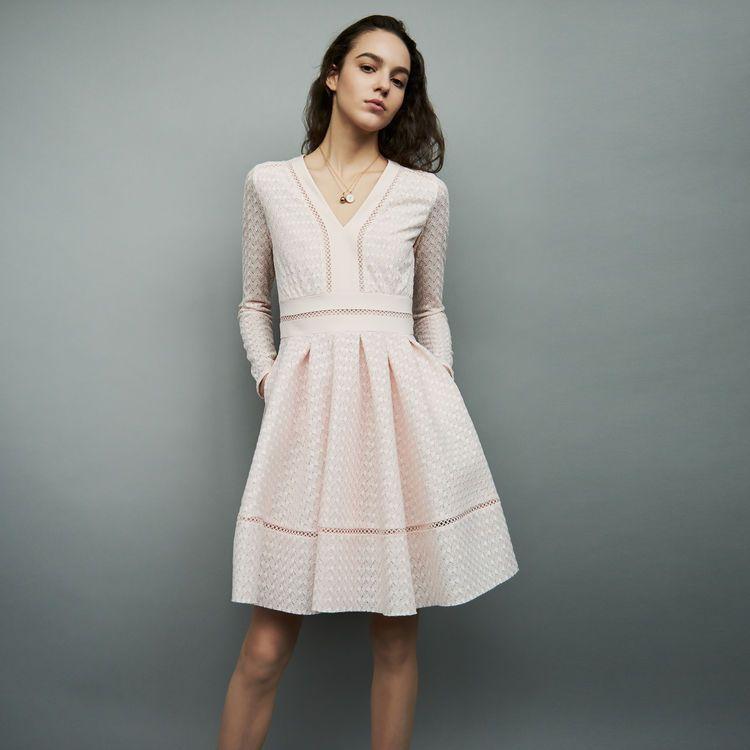 robe blanche dentelles maje ete