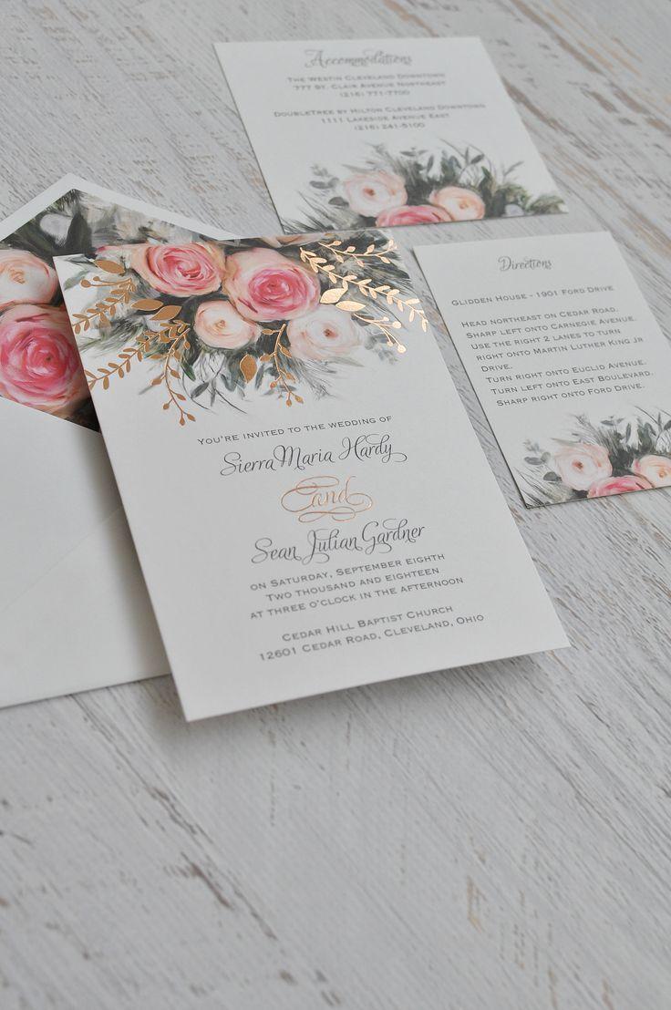 Ethereal Garden - Foil Invitation   Garden wedding, Wedding and ...