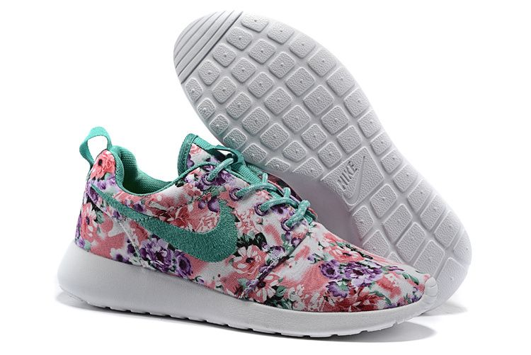 best authentic 5629d 5d70e ... official 2014 2015 womens shoes nike roshe run painted pink and club purple  floral white gamma