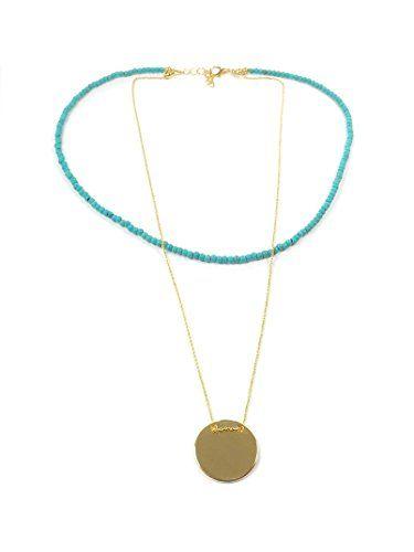 Remi Bijou Wunderschöne Zweilagige Halskette Anhänger Gravurplatte
