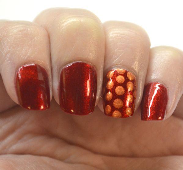 Blogger Bragger Autumn Nail Art Challenge, Week 1-Red