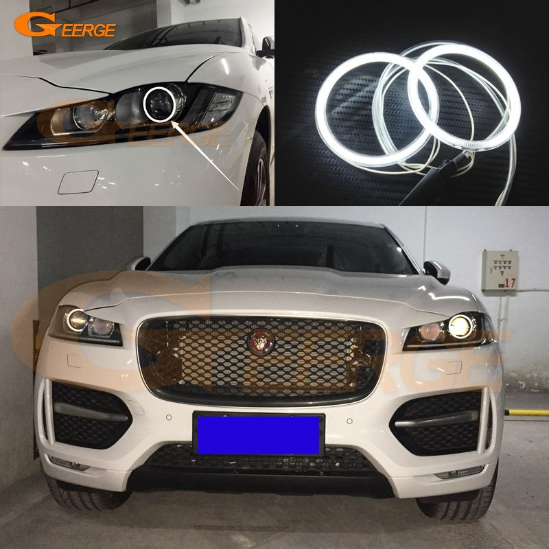 For Jaguar F Pace 2016 2017 Xenon Led Headlight Excellent Angel Eyes Ultra Bright Illumination Ccfl Angel Eyes Kit Halo Ring Led Angel Eyes Angel Eyes Jaguar