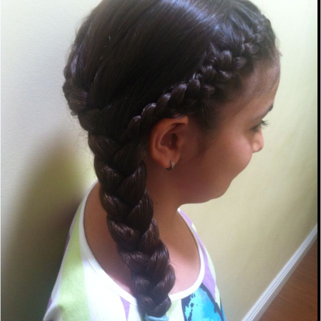 Two French braids meeting on the side | Hair | Pinterest