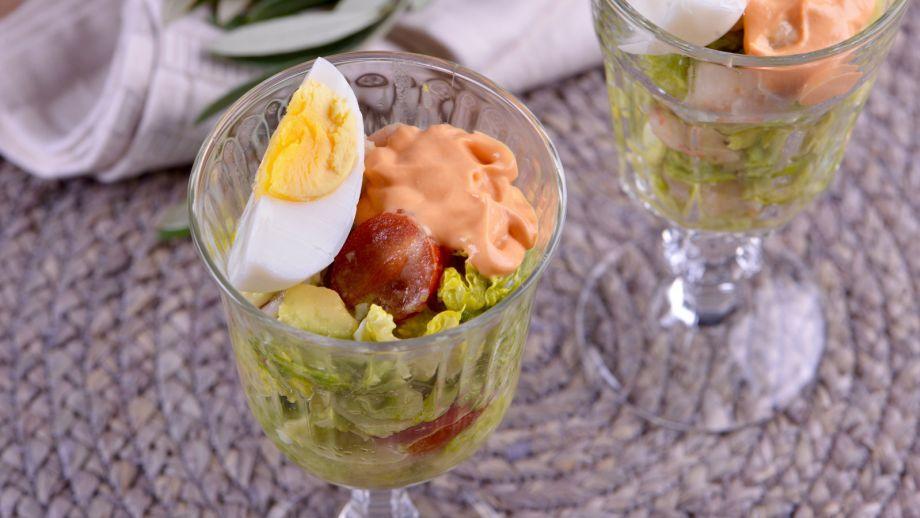 Cóctel de marisco con salsa rosa Sabor de Hogar T2 Ep: 34
