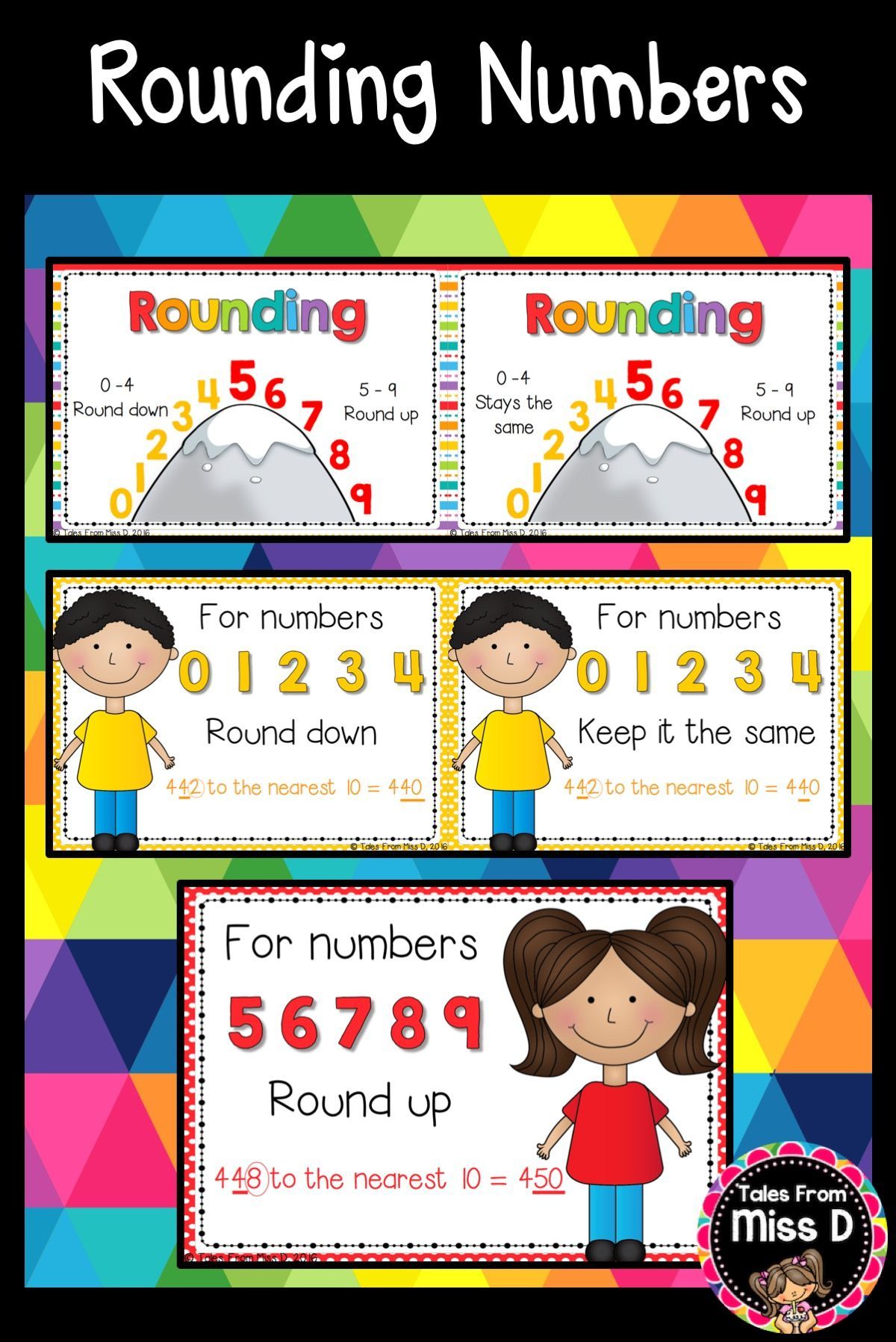 rounding numbers posters | math | pinterest | rounding numbers, math