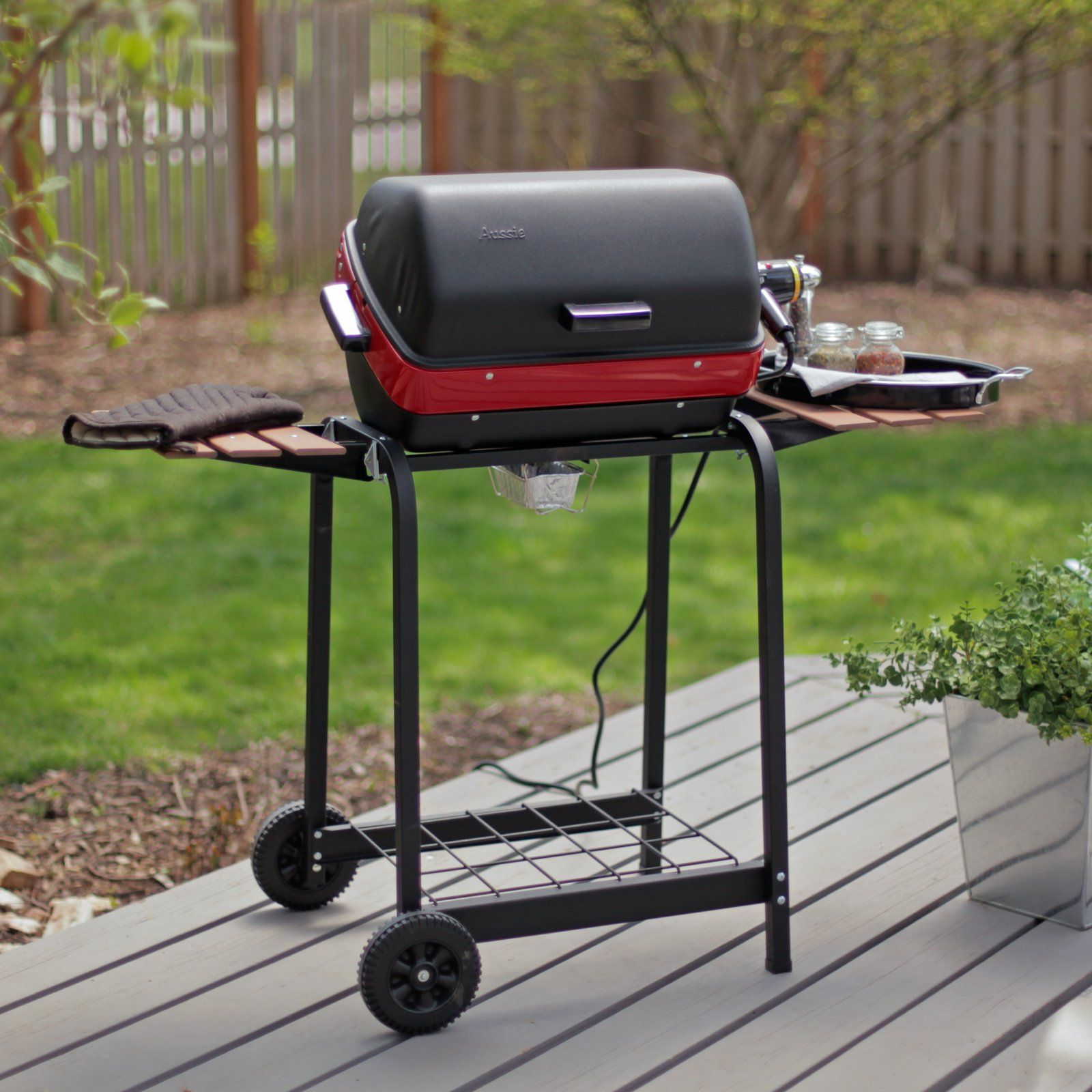 Meco Deluxe Electric Cart Grill Electric grill, Grilling