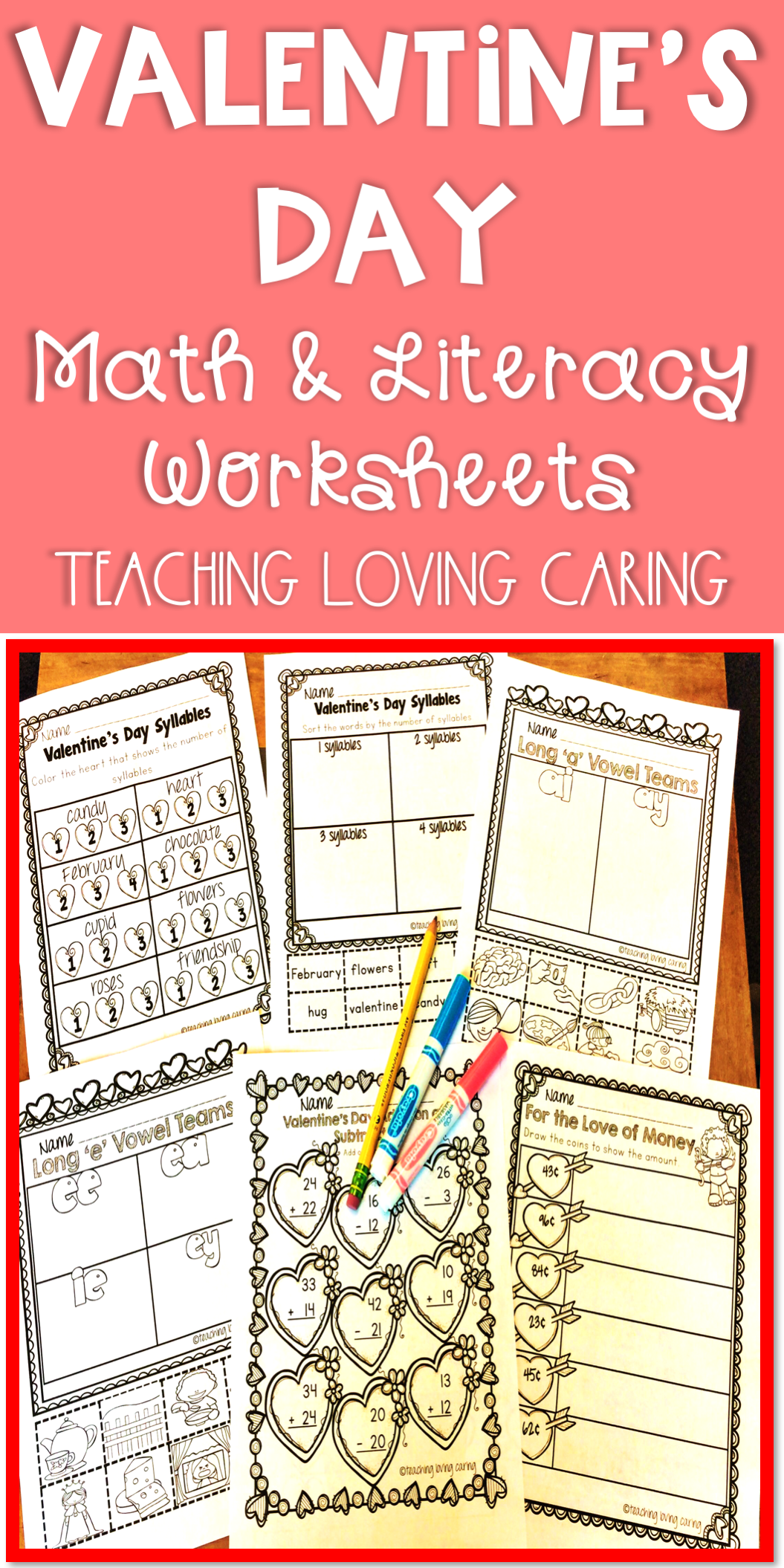 Valentine S Day Math And Literacy Activities