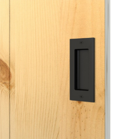 Recessed Door Pull Handle Privacy Latch Lock For Sliding Barn Door