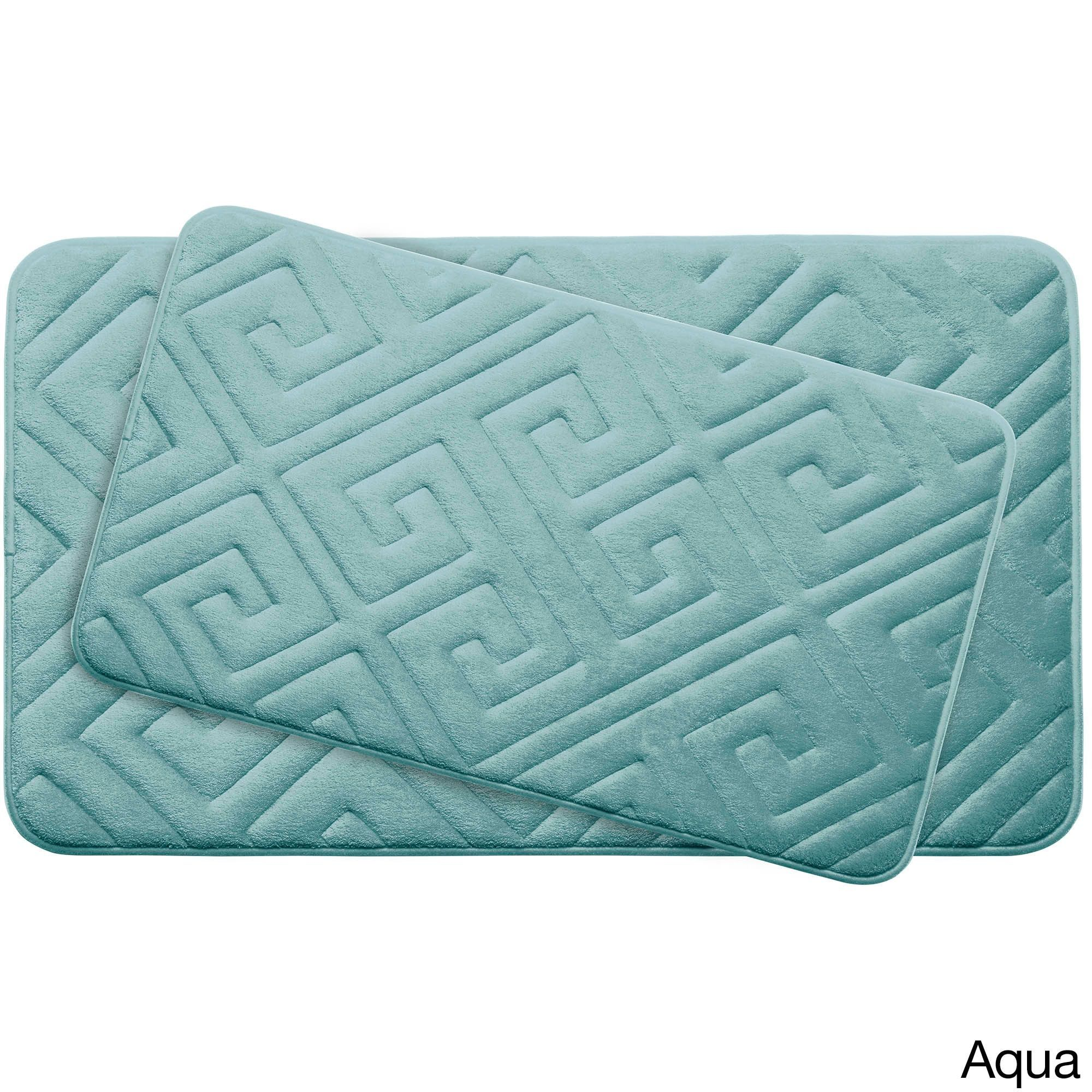 Caicos Memory Foam 2 Piece Bath Mat Set W Bouncecomfort