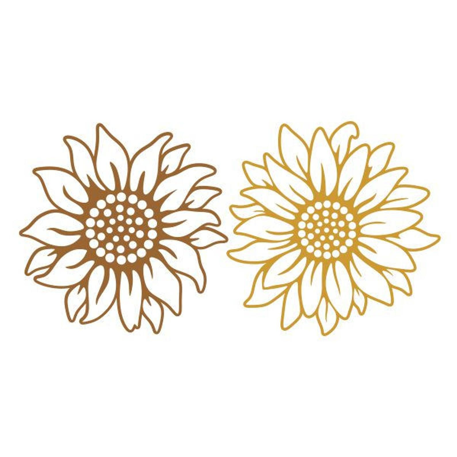 Sun Flowers Sunflower Cuttable Design SVG PNG DXF & eps