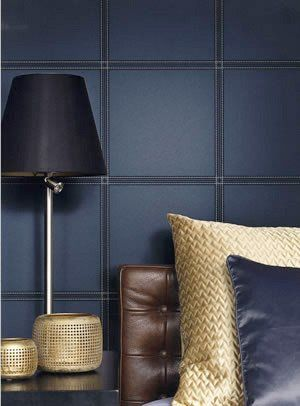 Faux Leather Tile Wallpaper By Bd Wall Natural Bedroom Stylish